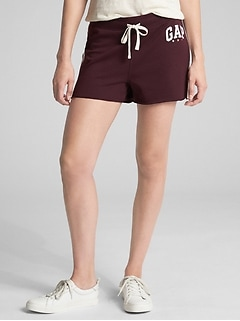 Logo Side-Stripe Shorts in Fleece