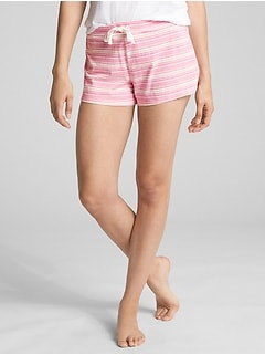 Print Shorts in Cotton-Modal