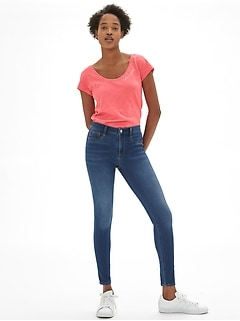 Soft Wear Mid Rise Knit Legging Jeans