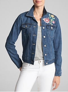 Embroidered Icon Denim Jacket