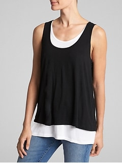 Maternity Double-Layer Nursing Tank Top