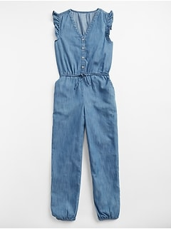 Chambray Flutter Jumpsuit
