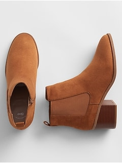 Chelsea Boots in Faux Suede