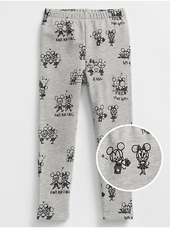 babyGap&#124 Disney Mickey Mouse Leggings in French Terry