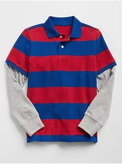 Stripe 2-in-1 Polo