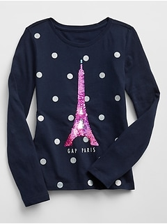 Flippy Sequin Long Sleeve T-Shirt
