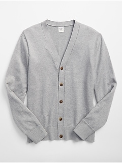 V-Neck Cardigan in Cotton