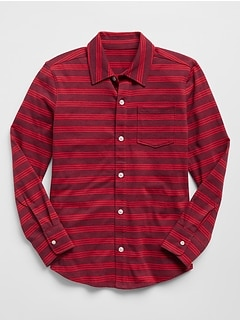Stripe Long Sleeve Shirt in Jersey