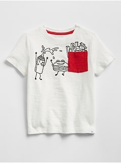 Pocket Short Sleeve Graphic T-Shirt