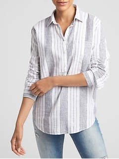 Stripe Popover Shirt