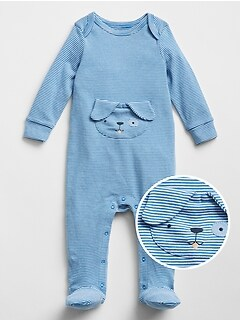 Baby Dog Footed One-Piece