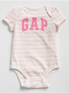 Baby Gap Logo Stripe Bodysuit