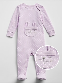 Baby Bunny Footed One-Piece