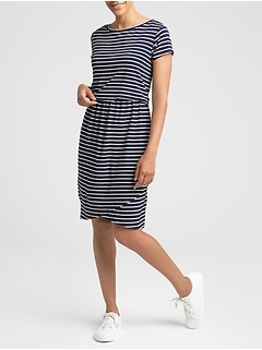 Maternity Stripe Nursing T-Shirt Dress