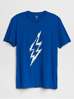 Lightning Bolt Graphic T-Shirt
