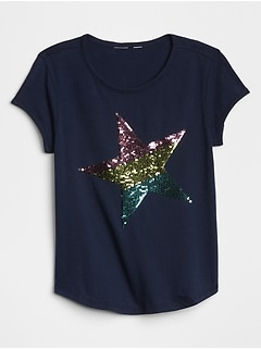 Flippy Sequin Graphic T-Shirt