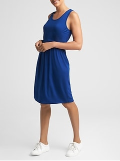 Maternity Layered Nursing Tank Dress