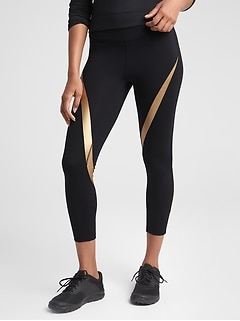 GapFit High Rise Foil Stripe Leggings