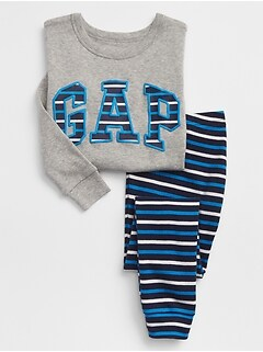 babyGap Stripe Gap Logo Pajama Set