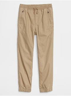 Pull-On Canvas Joggers