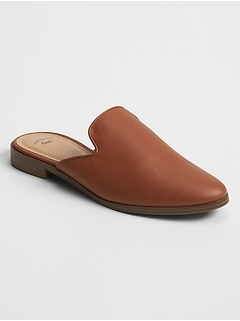 Loafer Mules in Faux Leather