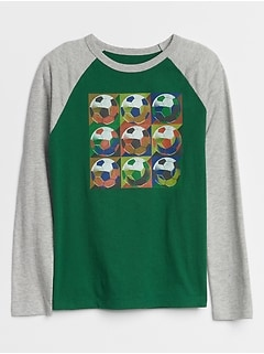 Raglan Long Sleeve Graphic T-Shirt