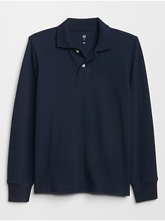 Uniform Long Sleeve Polo Shirt