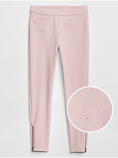 Sparkle Zip Ponte Pants