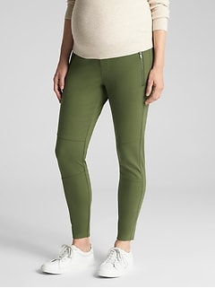 Maternity Moto Full Panel Leggings
