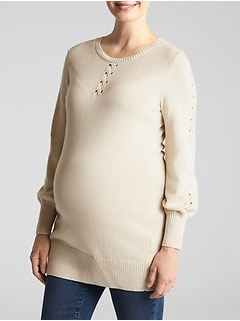 Maternity Lattice Sweater