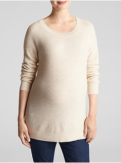 Maternity Textured Scoopneck Sweater