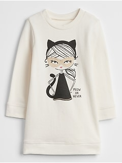 Cat Girl Graphic Dress