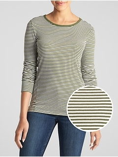 Feather Stripe Long Sleeve T-Shirt