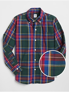 Plaid Shirt in Poplin