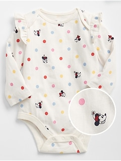 babyGap &#124 Disney Mickey Mouse and Minnie Mouse Ruffle Bodysuit