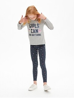 Kids Star Print Jeggings with Fantastiflex