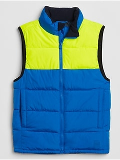 Kids Warmest Colorblock Vest