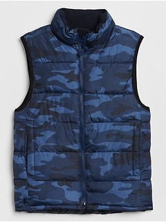 Kids Warmest Camo Vest