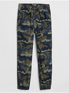 Kids Canvas Camo Joggers