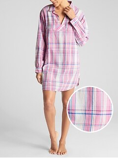 Print Sleep Shirt in Poplin