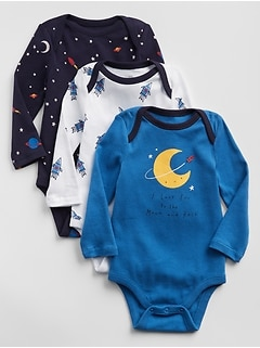 Rocket Graphic Bodysuit (3-Pack)