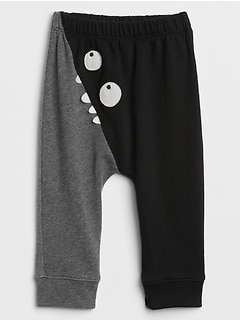 Halloween Colorblock Graphic Pants