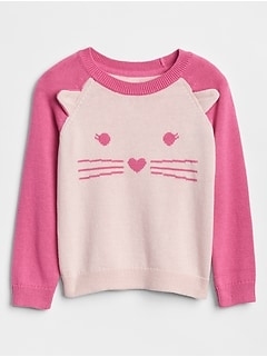 Cat Raglan Sweater