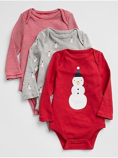 Snow Long Sleeve Bodysuit (3-Pack)