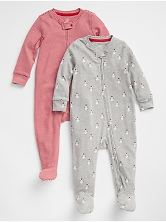 Baby Snow Footed One-Piece (2-Pack)