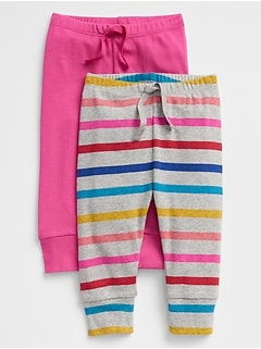 Stripe Pull-On Pants (2-Pack)