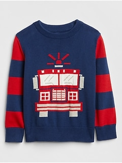 Firetruck Crewneck Sweater