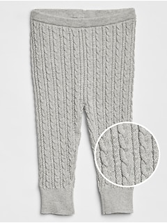 Cable-Knit Sweater Leggings
