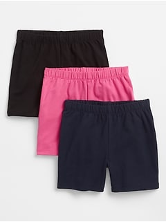 Kids Cartwheel Shorts in Stretch Jersey (3-Pack)