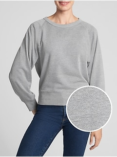 Crewneck Pullover Sweatshirt in French Terry